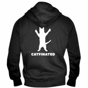 Męska bluza z kapturem na zamek Catfinated