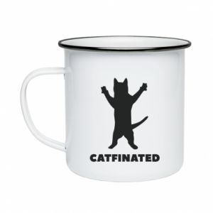 Kubek emaliowane Catfinated - PrintSalon