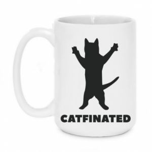 Kubek 450ml Catfinated - PrintSalon
