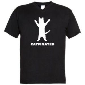 Męska koszulka V-neck Catfinated - PrintSalon