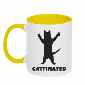 Kubek dwukolorowy Catfinated - PrintSalon