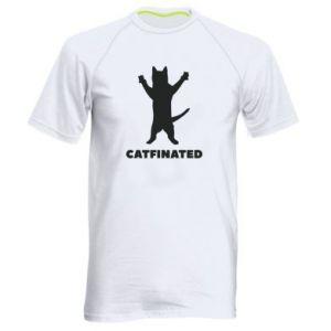 Męska koszulka sportowa Catfinated - PrintSalon