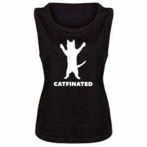 Damska koszulka bez rękawów Catfinated