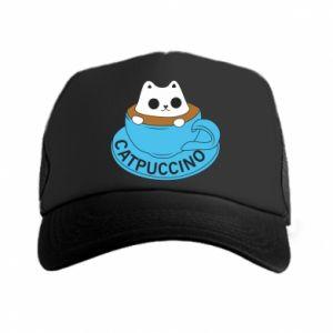 Czapka trucker Catpuccino