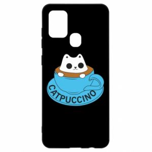 Etui na Samsung A21s Catpuccino