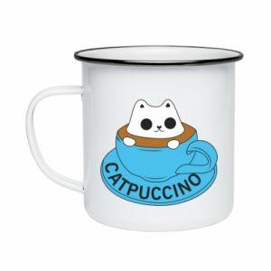 Kubek emaliowany Catpuccino