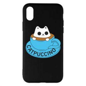 Etui na iPhone X/Xs Catpuccino