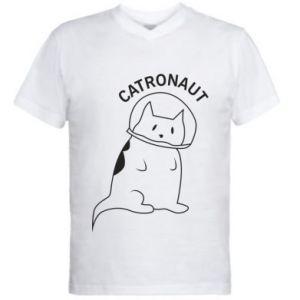 Men's V-neck t-shirt Catronaut