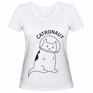 Damska koszulka V-neck Catronaut