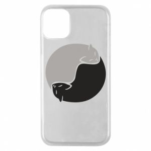Etui na iPhone 11 Pro Cats love black and white