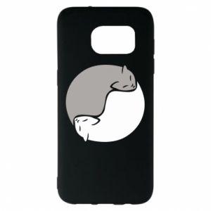 Etui na Samsung S7 EDGE Cats love black and white