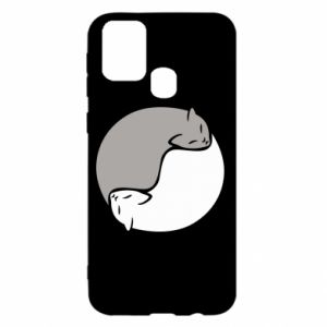 Etui na Samsung M31 Cats love black and white