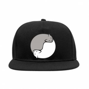 Snapback Cats love black and white
