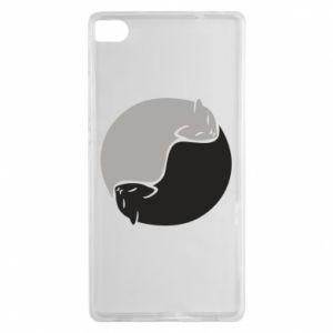 Etui na Huawei P8 Cats love black and white