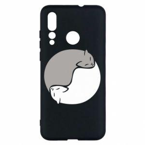 Etui na Huawei Nova 4 Cats love black and white