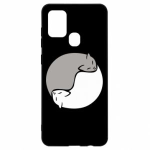 Etui na Samsung A21s Cats love black and white