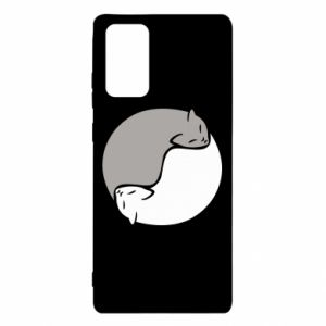 Etui na Samsung Note 20 Cats love black and white