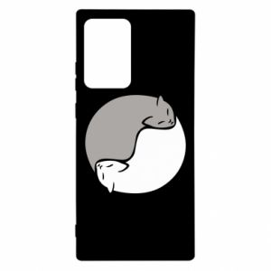 Etui na Samsung Note 20 Ultra Cats love black and white