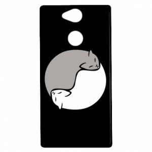 Etui na Sony Xperia XA2 Cats love black and white