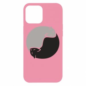 Etui na iPhone 12 Pro Max Cats love black and white