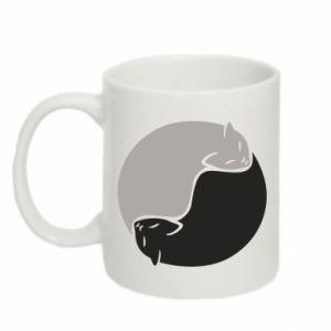 Kubek 330ml Cats love black and white