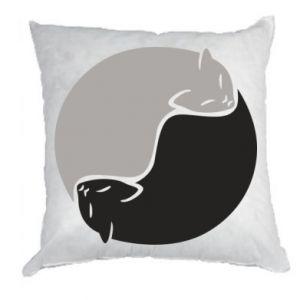 Poduszka Cats love black and white