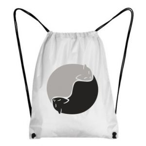 Plecak-worek Cats love black and white