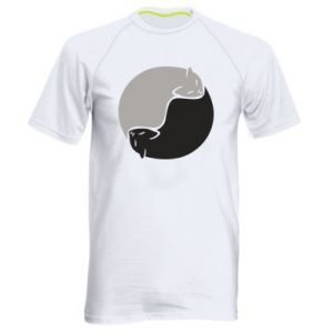 Koszulka sportowa męska Cats love black and white