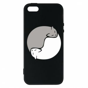 Etui na iPhone 5/5S/SE Cats love black and white
