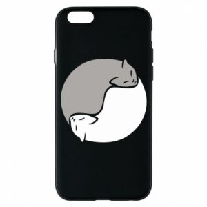 Etui na iPhone 6/6S Cats love black and white