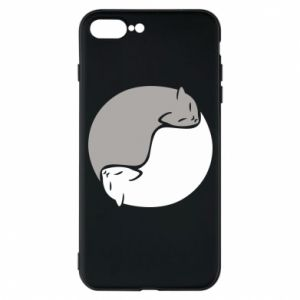 Etui do iPhone 7 Plus Cats love black and white