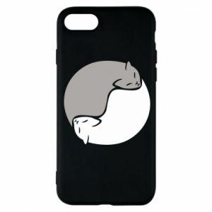 Etui na iPhone 8 Cats love black and white