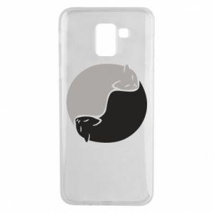 Etui na Samsung J6 Cats love black and white