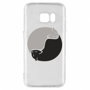 Etui na Samsung S7 Cats love black and white