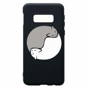 Etui na Samsung S10e Cats love black and white