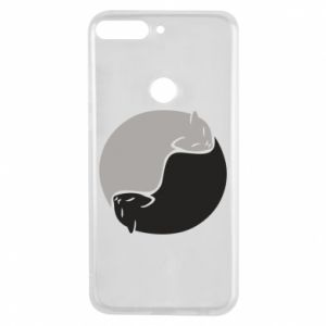 Etui na Huawei Y7 Prime 2018 Cats love black and white
