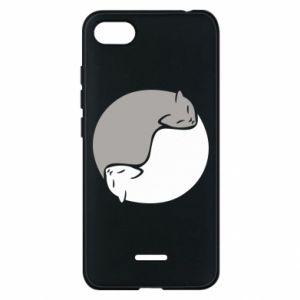 Etui na Xiaomi Redmi 6A Cats love black and white