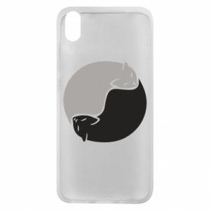 Etui na Xiaomi Redmi 7A Cats love black and white