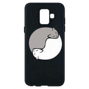 Etui na Samsung A6 2018 Cats love black and white