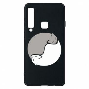 Etui na Samsung A9 2018 Cats love black and white