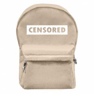 Plecak z przednią kieszenią Censored