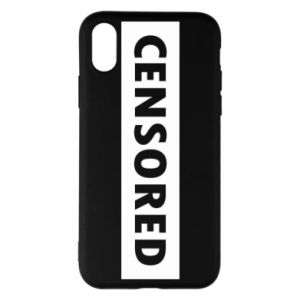 Etui na iPhone X/Xs Censored