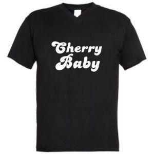 Męska koszulka V-neck Cherry baby