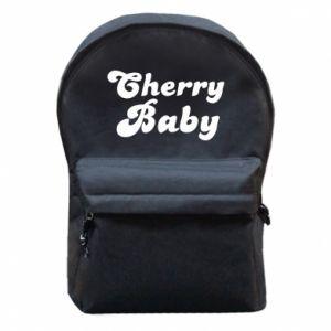 Plecak z przednią kieszenią Cherry baby