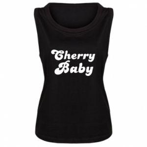 Damska koszulka bez rękawów Cherry baby