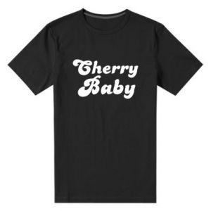 Męska premium koszulka Cherry baby