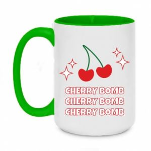 Two-toned mug 450ml Cherry bomb