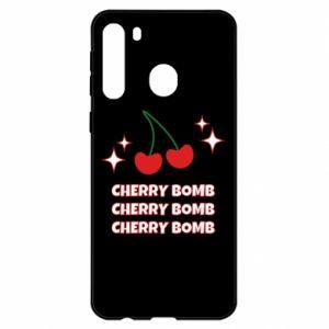 Etui na Samsung A21 Cherry bomb