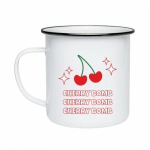 Enameled mug Cherry bomb