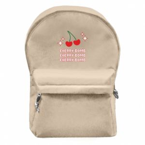 Backpack with front pocket Cherry bomb